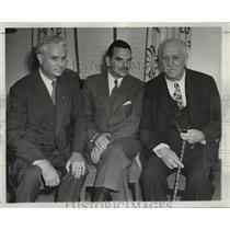 1944 Press Photo Walter S. Goodland, Thomas E. Dewey and John W. Bricker