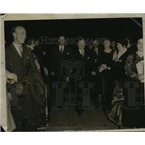 1935 Press Photo Dayton Johnson and Philip La Follette  - mja15436