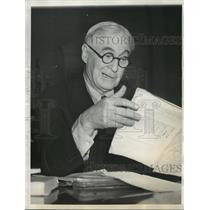 1937 Press Photo Bernard M. Baruch, New York financier  - mja16177