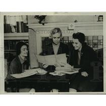 1938 Press Photo Mrs. Philip Nolte, Mrs. David A. Fox, Mrs. Edward Brumder