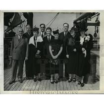 1927 Press Photo Sen. Joseph Guffey,Rep. & Mrs. B. Carroll Reece, Sen. S. Minton