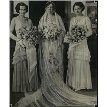 1931 Press Photo Mrs. William A. Davidson, Mrs. Fred Lange Jr., Ruth Godfrey