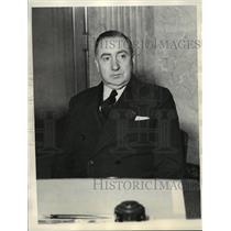 1936 Press Photo Bendix Corp. Pres. Vincent Bendix addresses labor dispute