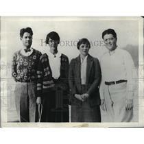 1930 Press Photo Gov & Mrs Phillip LaFollette w/ Mr & Mrs Robert M LaFollette