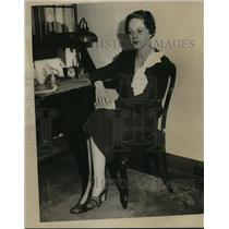 1934 Press Photo Betty Lynn Rujee - mja14896