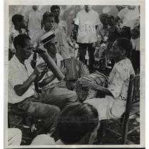 1956 Press Photo A trio of Dominican musicians concert on Ciudad Trujillo