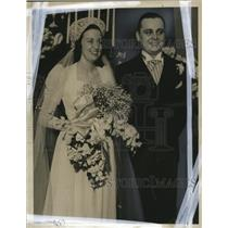1939 Press Photo Mr. and Mrs. Davidson's wedding reception at the Woman's club