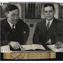 1927 Press Photo Victor L. Brown and Sherrard Ewing - mja16633