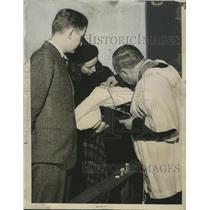 1939 Press Photo William George Bruce II, Miss Jane Bruce and Mary Judith Bruce