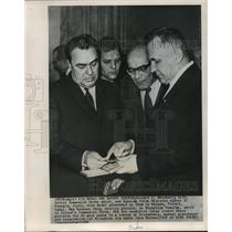 1965 Press Photo Leonid I. Brezhnev & Russian Prime Minister Alexei N. Kosygin