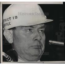 1964 Press Photo United Mine President Tony Boyle pleaded for peace & unity