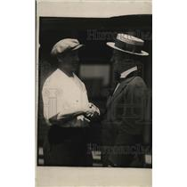 1919 Press Photo Ollie Pecord, ref. of Dempsey-Willard bout, & Fred Turbyville