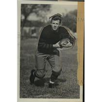 1929 Press Photo Scott Kennedy, a halfback and a track star at Missouri