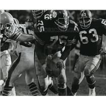 Press Photo Joe Greene Recovers Fumbles Against Cleveland - cvb75399
