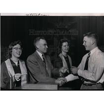 1955 Press Photo Honor Student- Graham Johnson on right is one of 43 honored.