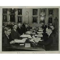 1934 Press Photo Council Members of Karolinska Institutet, Stockholm, Sweden