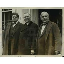 1927 Press Photo Labor leaders John Lewis William Green & Frank Morrison