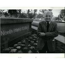 1986 Press Photo Barry Schuler North Idaho College - spa19591