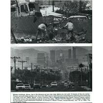 1982 Press Photo Phoenix from South Central Avenue - spp01366