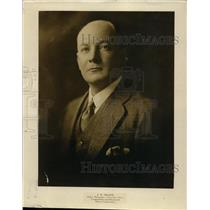 1929 Press Photo J.W. Frazer Sales Manager, Chrysler Sales Corp. and Plymouth