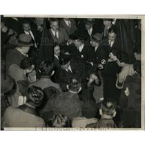 1934 Press Photo Communist protestors at NYC Madison Square Garden - net09126