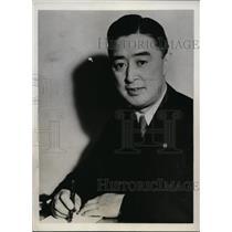 1933 Press Photo Takashi Komatsu Managing Director Asano Shii Building concern