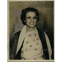 1950 Press Photo Virginia Perez de Palli Cardenas Cuba Baptist Congress