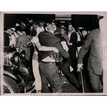 1935 Press Photo Communists riot at NYC dock where ship Bremen arrived