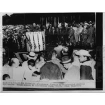 1952 Press Photo President Dwight D. Eisenhower During Park Speech - nee99962