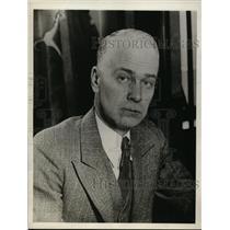 1929 Press Photo Maj FD Silloway deputy prohibition administrator has a theory