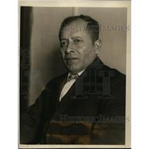 1926 Press Photo Col Miguel Sequeira arrives in Washington DC seeking help