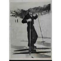 1937 Press Photo Romani Mussolini son of Italian Dictator at Terminillo