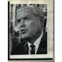 1963 Press Photo David J. McDonald, President of the United Steelworkers