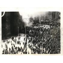 1934 Press Photo Rebels set fire to churches in Madrid, Spain during revolt