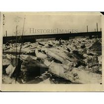 1925 Press Photo Buffalo Creek jammed with ice - nee94551
