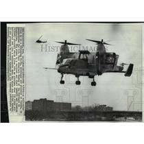 1972 Press Photo Canadair CL-84 demonstrated for U.S. Navy observers at Pentagon