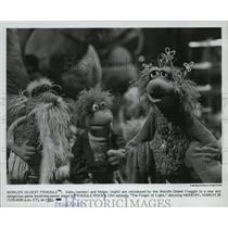 1983 Press Photo Gobo, Mokey and Fraggle in Fraggle Rock - mjx02915
