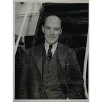1938 Press Photo George M. Conan Arrives in England on S.S. Mahattan - nef04890