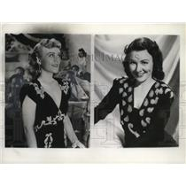 1940 Press Photo Wee Bonnie Baker shown before and after hair operation