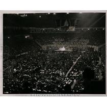 1938 Press Photo Communist convention crowds at Madison Square Garden