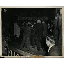 1934 Press Photo Communist protestors at NYC Madison Square Garden - net09128