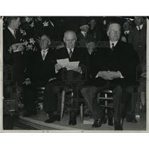 1934 Press Photo Herbert Hoover And Gov. Merriam At The Funeral - nee93652