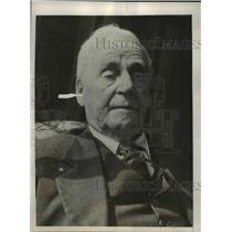 1936 Press Photo 107 Year-Old Los Angeles Man, War Veteran Hiram Reynolds