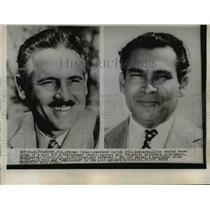 1952 Press Photo Cuban President Carlos Prio Socarras, Fulgencio Batista