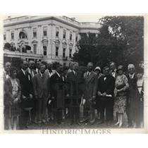 1929 Press Photo Pres. Herbert Hoover with Texan Delegation at the White House.
