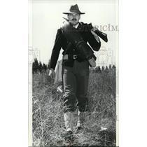 1981 Press Photo Bill Schafer in frontier gear of 1890 - spa21530