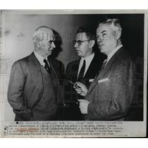1962 Press Photo Philip Murray meets with Union officials in New York