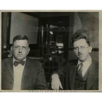 1922 Press Photo Dr JW Lytle & Dr Chester Stock at LA Museum of Science Art