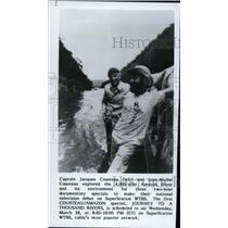 Press Photo Explorer Capt Jacques Cousteau and Jean-Michel Cousteau - spp01288