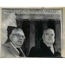 1964 Press Photo IW Abel secretary-treasurer of United Steelworkers - nef02531